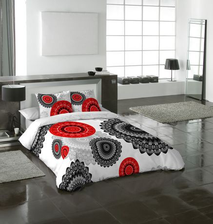 Ens housse de couette mandala de gouchee design pour for Housse de couette grand lit