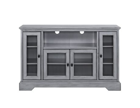 """Manor Park 52"""" Wood Highboy TV Media Stand Storage Console - Antique Grey - image 1 of 7"""