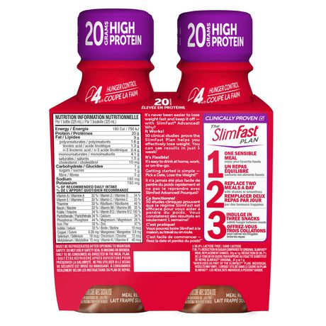 SLIM-FAST SlimFast Advanced Nutrition Hunger Control High Protein Creamy Chocolate Meal Replacement Shake - image 2 of 4