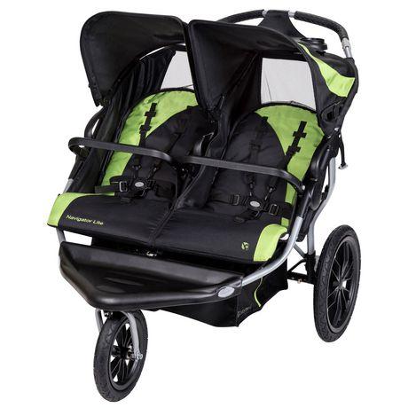 Poussette de jogging double Navigator Lite de Baby Trend | Walmart
