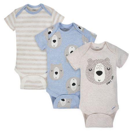 283f42445473 Gerber® Baby Boys  3-Pack Organic Onesies Bodysuits - Variety ...