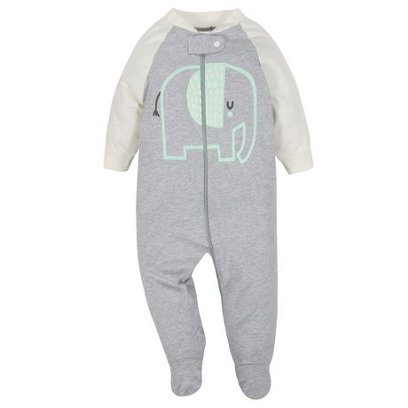Gerber® Baby Neutral 2-Pack Organic Sleep 'n Play- Grey - image 2 of 5