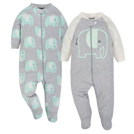 Gerber® Baby Neutral 2-Pack Organic Sleep 'n Play- Grey - image 1 of 5