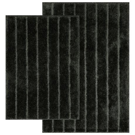 MAINSTAYS 2-piece Rug Set, Black - image 1 of 4