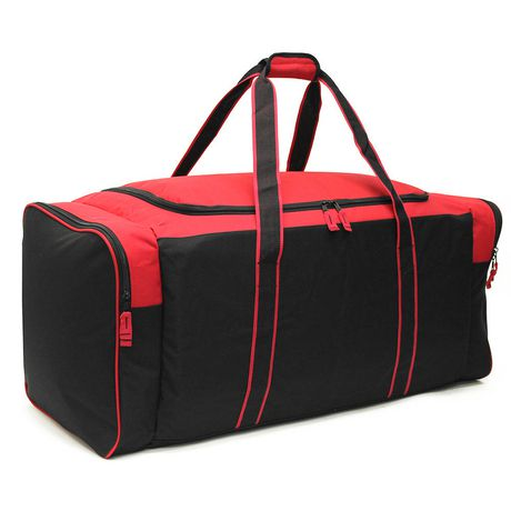 The hockey gear carry bags, hockey gear wheel bags and hockey gear backpacks are for players looking for a big enough hockey bag for all of their equipment. We carry goalie gear wheel bags that have even more space for the extra large gear as well as hockey referee bags for refs on the go.