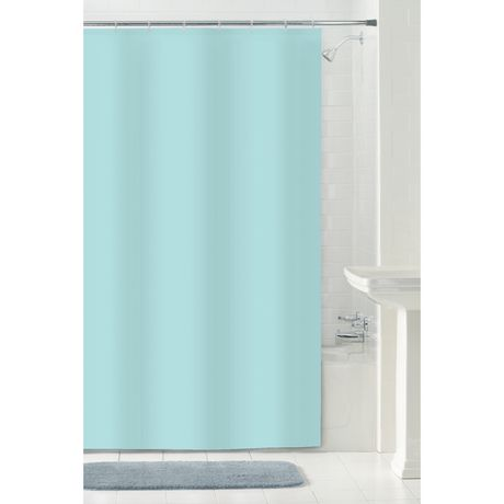 MAINSTAYS Water Repellent Fabric Shower Curtain Or Liner 70 Inches X 72 Aqua
