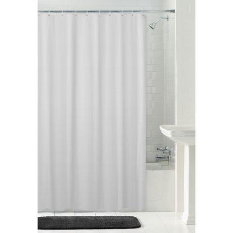 MAINSTAYS Waterproof Herringbone Fabric Shower Curtain Or Liner 70 Inches X 72 White