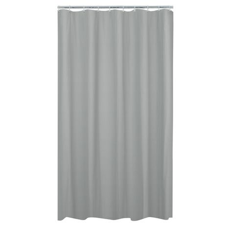 MAINSTAYS Waterproof Herringbone Fabric Shower Curtain Or Liner, 70 Inches X 72 Inches, Grey - image 2 of 4