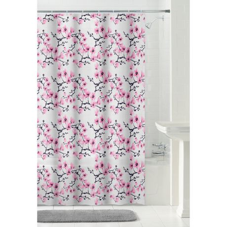 mainstays peva flora shower curtain or liner, 70 inches x