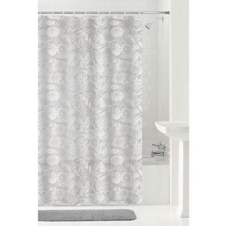 MAINSTAYS Seashells Peva Shower Curtain