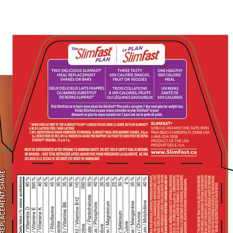 SlimFast Advanced Nutrition Hunger Control High Protein Caramel Latte Meal Replacement Shake - image 2 of 3