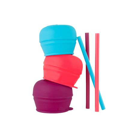 Boon Snug 3-Pack Cup Lids with Straws - image 1 of 3