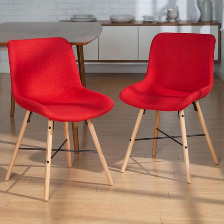 Manor Park Mid Century Modern Upholstered Dining Chair, set of 2 - Multiple Finishes - image 1 of 8