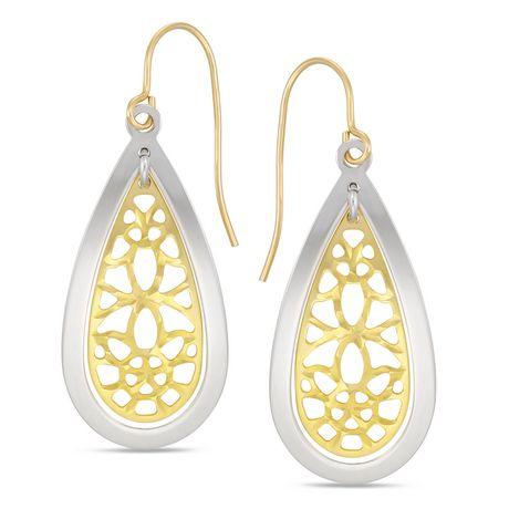 Sono di Oro 10KT Gold Bonded on Silver Womens Earrings - image 1 of 1