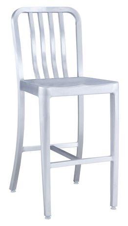 Chaise De Comptoir 1 Pice En Aluminium Bross Pour Extrieur Gastro Zuo Modern