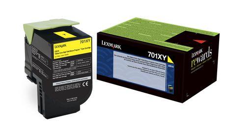 Lexmark 701XY Jaune Cartouche de toner à rendement extra-long - image 1 de 1