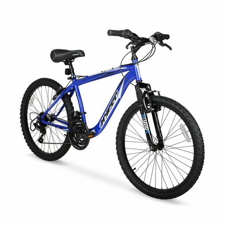"""24"""" Hyper Bicycles Boundry Trail Front Suspension Unisex Steel Frame Mountain Bike Blue - image 2 of 4"""