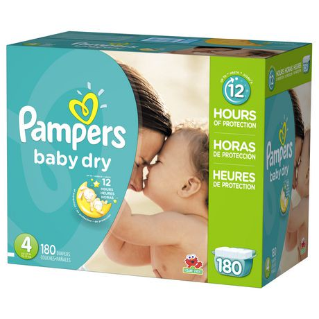 Pampers® Baby Dry™ diapers are 3X drier than an ordinary diaper,* so your baby can sleep soundly all night. That's because Baby Dry diapers have 3 layers of absorbency vs. only 2 in an ordinary diaper*, so your baby can get up to 12 hours of overnight protection.