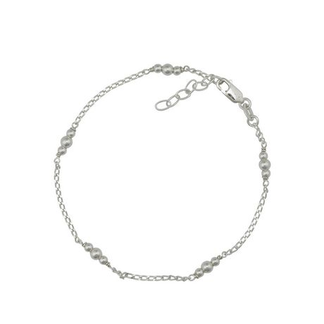 Silver Sterling Bead Anklet - image 1 of 1