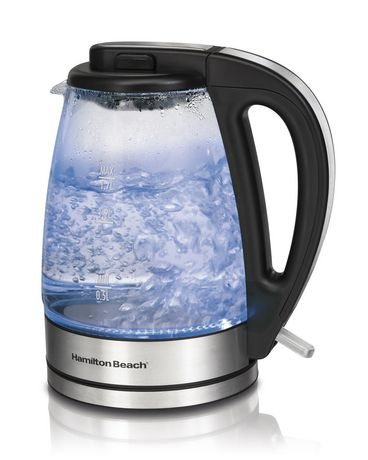 Hamilton Beach Glass Kettle Black