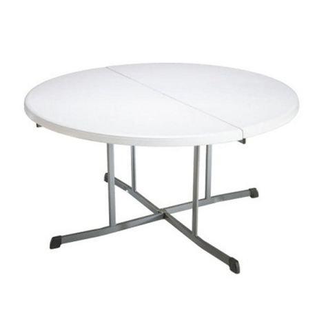 Lifetime 60 In Round Fold In Half Folding Table Walmart