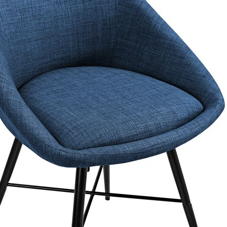 Urban Upholstered Side Chair, Set of 2 - Blue - image 5 of 8