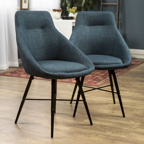 Urban Upholstered Side Chair, Set of 2 - Blue - image 2 of 8