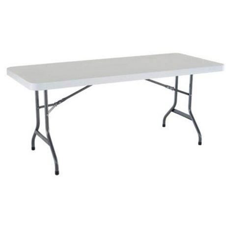 White Granite Plastic Folding Table 4pk Walmart Canada