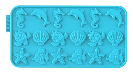 Counseltron Siliconezone Ocean Choco-Wafer Mold - image 1 of 1