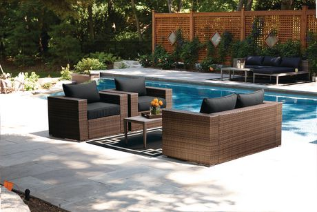 Hometrends borwick 4 piece conversation set for Outdoor furniture quebec