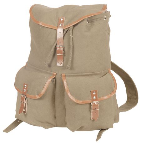 World Famous Sales Of Canada Inc World Famous Vintage Camper Rucksack - Khaki Khaki