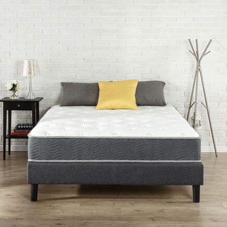 matelas ressorts zinus de 10 po soutien extra ferme walmart canada. Black Bedroom Furniture Sets. Home Design Ideas