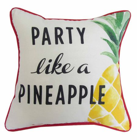 "hometrends ""Party Like A Pineapple"" Outdoor/Indoor Toss Cushion - image 1 of 2"