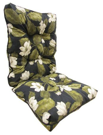 hometrends Black Floral High Back Cushion - image 1 of 1