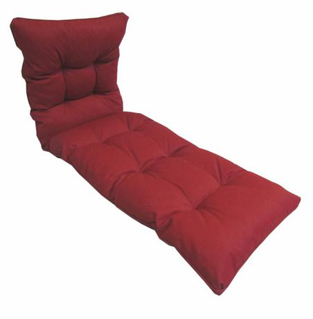 coussin de chaise longue hometrends en rouge dahlia. Black Bedroom Furniture Sets. Home Design Ideas