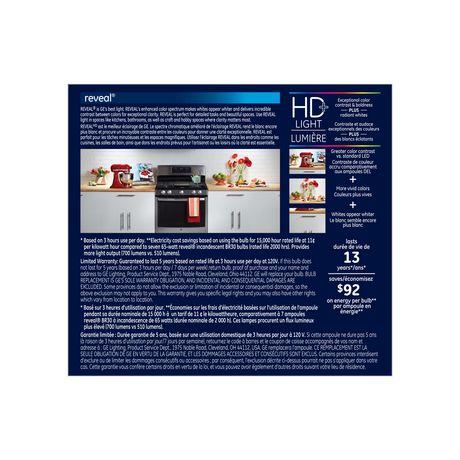 General Electric 9W HD+ DEL R30 Reveal Ampoule - image 2 de 5