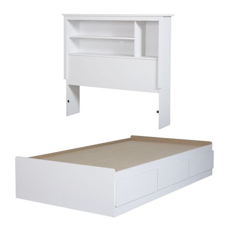 South S Vito Twin Storage Bed With, White Twin Storage Bed Canada