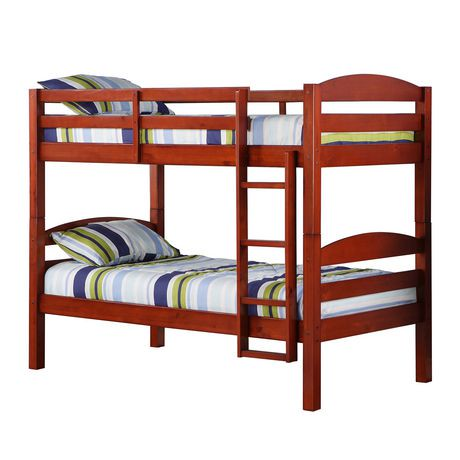 We Furniture Twin Solid Wood Bunk Bed Cherry Walmart