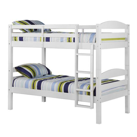 the latest 5d02c f0172 We Furniture Twin Solid Wood Bunk Bed - White