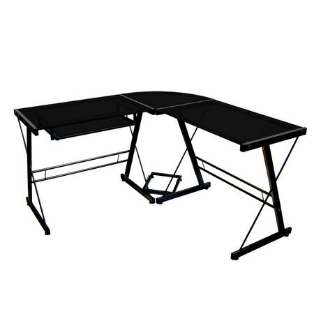 uk grs amazon computer desk home black glass dp kitchen global co