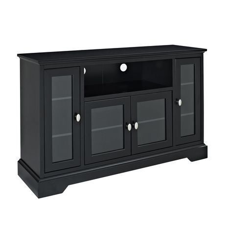 We Furniture 52 Quot Highboy Style Black Wood Tv Stand