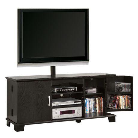 60 39 39 black wood tv stand with mount. Black Bedroom Furniture Sets. Home Design Ideas
