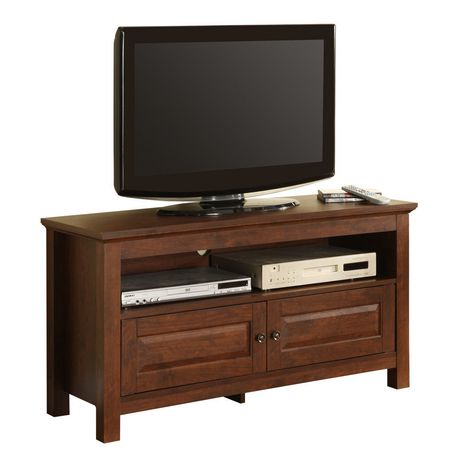 """Manor Park Traditional Wood TV Stand with Storage for TV's up to 48"""" - Multiple Finishes - image 1 of 7"""