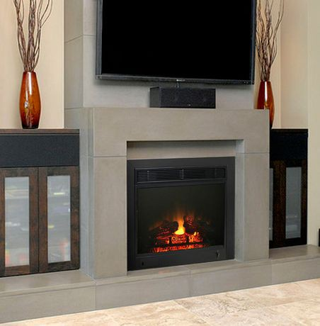 23 Quot Electric Fireplace Insert Walmart Canada