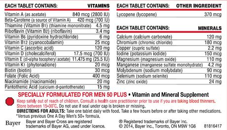 One A Day MEN 50+ Multivitamin Tablets - image 2 of 2
