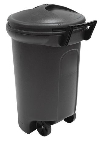 United Comb Amp Novelty Wheeled Turn And Lock Trash Can