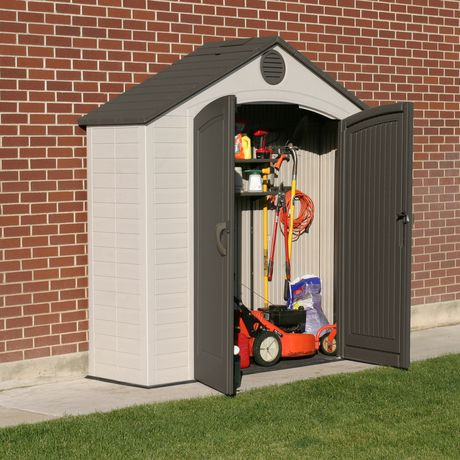 Lifetime 8 X 2 5 Ft Garden And Tool Storage Shed Walmart