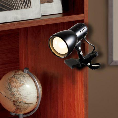 Mini Wall-Mountable Clip Lamp, Black - image 1 of 2