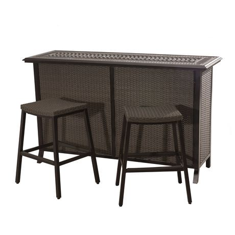 Sunjoy Tulsa Bar Set Patio Furniture