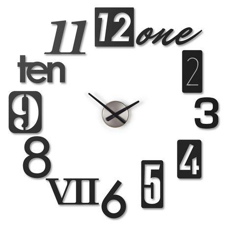 d104af73a99b Numbra Wall Clock Black - image 1 of 1 ...